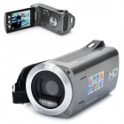 2.7&quot; TFT LCD CMOS 8MP Digital Video Camera w/ SD/Mini USB/AVout - Silver Grey