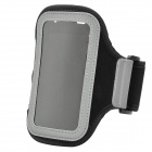 Soft Fabric Sports Armband for Iphone 4 / 4s / Ipod Touch 4 - Black