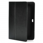 Protective Artificial Leather Case for Samsung P7300 - Black