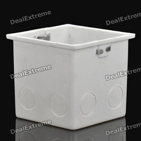 цены  86 Wall Mount Switch Back Box - White (7cm-Depth)