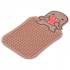 Cute Domo Pattern Auto Car Anti-Slip Rubber Pad for Phone / MP3 / MP4 - Brown