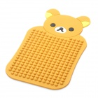 Cartoon Lazy Bear Style Vehicle Anti-Slip Mat for Mobile Phone - Brown