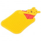 Cute Winnie Pattern Auto Car Anti-Slip Rubber Pad for Phone / MP3 / MP4 - Orange