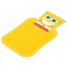 Nette SpongeBob Pattern Auto Auto Anti-Rutsch-Gummi-Pad für Telefon / MP3 / MP4 - Orange