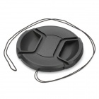 72mm Digital Camera Lens Cap Cover - Black