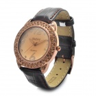 Daybird Fashion Stainless Steel + PU Quartz Wrist Watch - Light Coffee