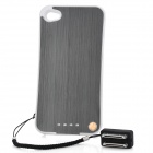 Rechargeable 2000mAh External Battery Back Case for iPhone 4 / 4s - Black