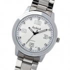 Daybird Fashion Stainless Steel + PU Quartz Wrist Watch - White
