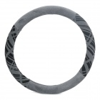 Elegant Car Steering Wheel Sleeve - Black Gray (Diameter 37~38cm)
