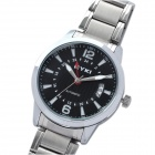 EYKI Fashion Stainless Steel Mechanical Wrist Watch - Black + Silver