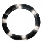 Elegant Car Steering Wheel Sleeve - Black + White (Diameter 37~38cm)