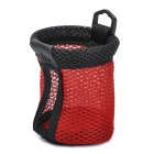 Mini Storage Pocket Bag for Bicycle Bike - Red + Black