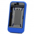 Protective Silicone Stand Holder Back Case for iPhone 4 / 4s - Blue