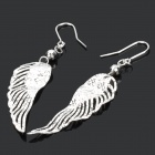 Stylish Wing Style 990 Sterling Silver Earrings (Pair)