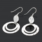 Stylish O Shaped Pendants 990 Sterling Silver Earrings (Pair)