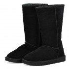 Stylish Women's Winter Warm Snow Boots Shoes - Black (EUR Size-38)