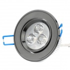 3W 3500K 260-Lumen 3-LED Warm White Light Ceiling Down Lamp w/ Driver (AC 100~245V)