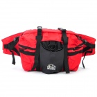 Outdoor Climbing Waist Bag / Shoulder Bag - Red + Black