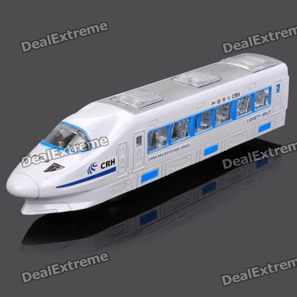 Rotatable CRH Train Toy with Light and Music - White + Blue (3 x AA) human body interaction music playing game toy white pink 2 x aa