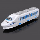 Rotatable CRH Train Toy with Light and Music - White + Blue (3 x AA)