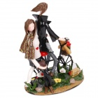 Lovers Riding Bike Style Toy Set - Green + Black + White