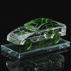 Crystal Car Model Style Perfume Bottle Container - Transparent + Green
