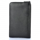 Protective Artificial Leather Top Flip Case for Samsung Galaxy Note / i9220 / GT-N7000 - Black