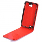 Protective Artificial Leather Top Flip Case for Samsung Galaxy Note / i9220 / GT-N7000 - Red