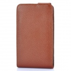 Protective Artificial Leather Top Flip Case for Samsung Galaxy Note / i9220 / GT-N7000 - Brown