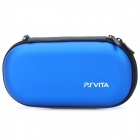 Protective PU Leather Carrying Pouch w/ Carabiner Clip for PS Vita - Blue