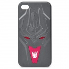 Transformer Decepticon Pattern Protective Plastic Back Case for iPhone 4 / 4S - Dark Grey