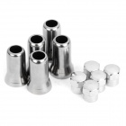 Car Tire Valve Cap Cover - Silver (5 Piece Pack)