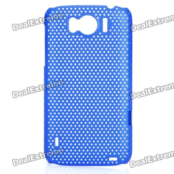 цена на Mesh Protective PC Back Case for HTC Sensation XL / X315E / G21 - Dark Blue