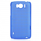 Mesh Protective PC Back Case for HTC Sensation XL / X315E / G21 - Dark Blue