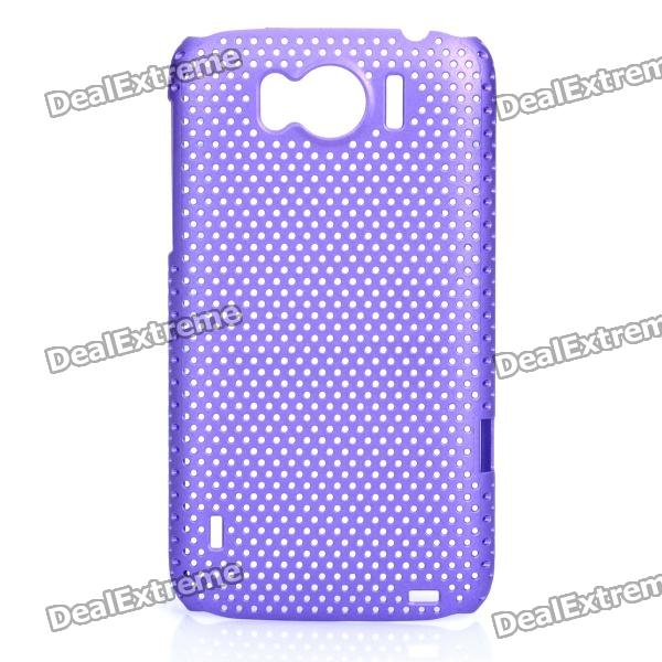 Mesh Protective PC Back Case for HTC Sensation XL / X315E / G21 - Purple