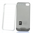ETL Rechargeable 1500mAh External Battery Case w/ Bumper Frame for iPhone 4 - Grey