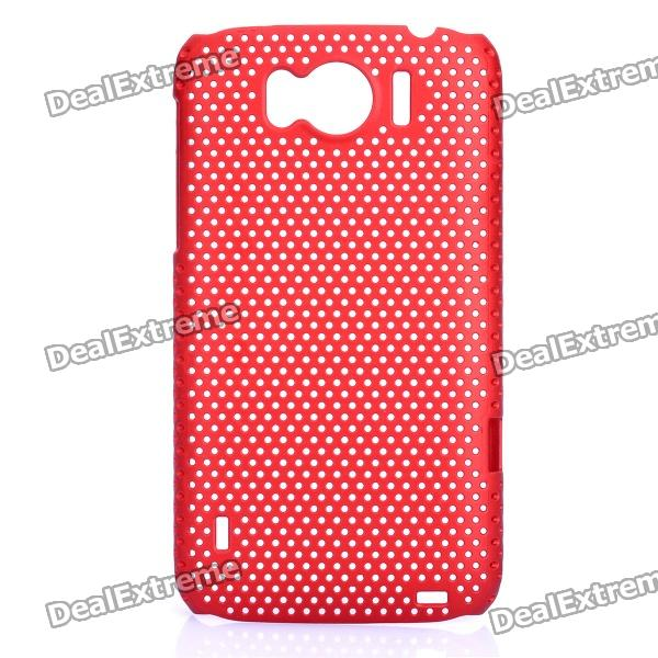 цена на Mesh Protective PC Back Case for HTC Sensation XL / X315E / G21 - Dark Red