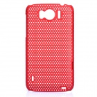 Mesh Protective PC Back Case for HTC Sensation XL / X315E / G21 - Dark Red