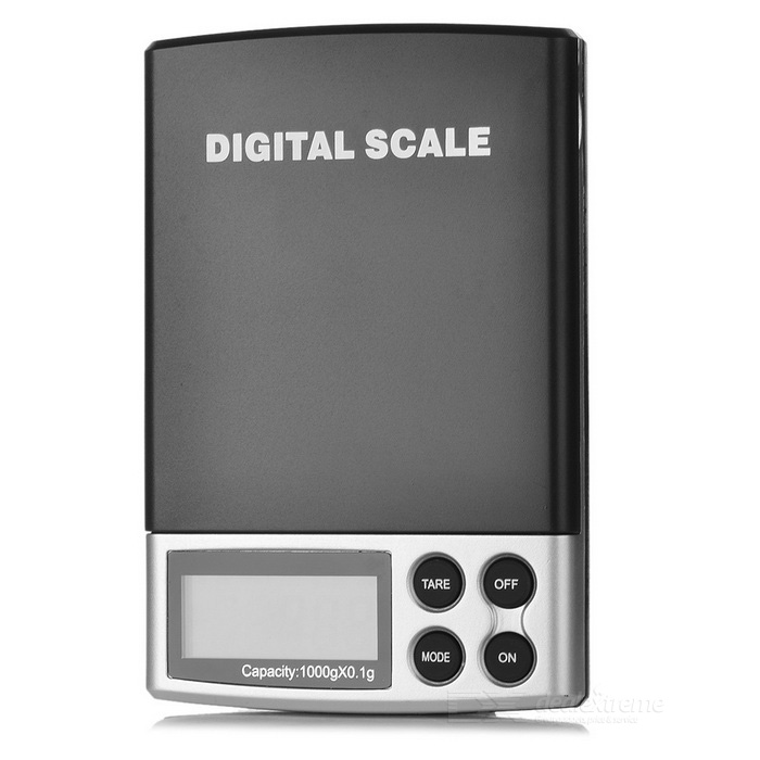 Digital Pocket Scale - Black + Silver (2lb / 1kg)