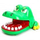 Funny Crocodile Mouth Dentist Bite Finger Game Toy - Green (Large Size)
