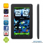 "WG1107 Android 2.3.4 Tablet WCDMA Phone w/ 7"" Capacitive, Dual SIM, Wi-Fi, GPS, FM and TV - Black"