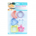 Cute Biscuit Cookie Cutter Mold Set (6-Piece Pack)