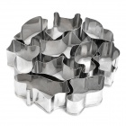 Animals Shaped Biscuit Cookie Cutter Mold Set - Silver (10 Pieces Pack)