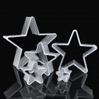 Five-Pointed Star Shaped Mousse Ring Cake Cookie Cutter Mold Set - Grey (5 Pieces Pack)