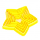 Five-Pointed Star Shaped Biscuit Cookie Cutter Mold Set - Yellow (6 Piece Pack)