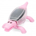 Solar Powered Crawling Crocodile - Pink