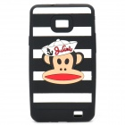 Paul Frank Image Style Protective Silicone Case for Samsung i9100 - Black + White