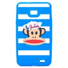 Paul Frank Image Style Protective Silicone Case for Samsung i9100 - Blue