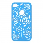 Protective Hollow Out PC Back Case for Iphone 4 / 4S - Blue