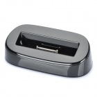 USB Charging Docking Station w/ USB Charging / Data Cable for iPhone 4s - Black